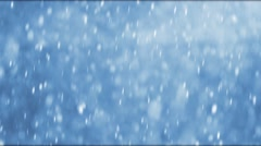 Large snowflakes falling during a winter storm Stock Footage