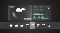 Hailing, Weather icon set animation(included alpha) Stock Footage