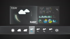 Rainy, Weather icon set animation(included alpha) Stock Footage