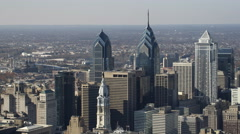 Aerial view of Philadelphia downtown. Shot in 2011. Stock Footage