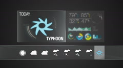 Typhoon, Weather icon set animation(included alpha) Stock Footage