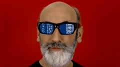Hypnoglasses look source code scroll Stock Footage