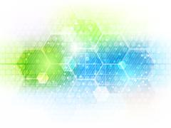 Abstract vector future business technology background with hexagon pattern. - stock illustration