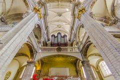 Stock Photo of BRUSSELS, BELGIUM - 11 AUGUST, 2015: Inside famous Our Lady of Assistance Church