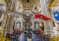 BRUSSELS, BELGIUM - 11 AUGUST, 2015: Inside famous Our Lady of Assistance Church - stock photo