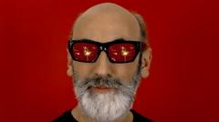 Hypnoglasses look sparkles Stock Footage