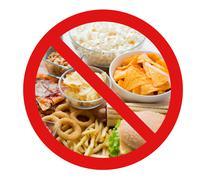 Close up of fast food snacks behind no symbol Kuvituskuvat