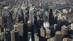 Aerial view of downtown Philadelphia. Shot in 2011. Stock Footage