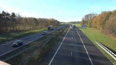 Traffic at the A1 Highway in the Netherlands Stock Footage