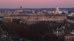 Flying by Webster University in Washington DC with Harry S. Truman Building and Stock Footage