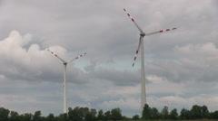 energy, windmill - stock footage