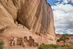 White house ruins in Canyon de Chelly National Monument Stock Photos