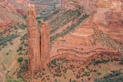 Spider rock in Canyon de Chelly National Monument - stock photo