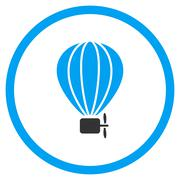 Balloon Airship Icon Stock Illustration