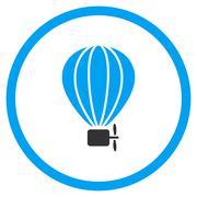 Balloon Airship Icon - stock illustration