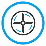 Stock Illustration of Aircraft Screw Rotation Icon