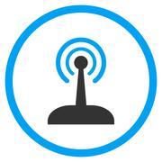 Radio Control Joystick Icon Stock Illustration