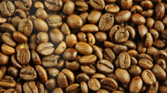 Background of coffee beans - stock footage