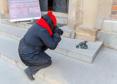 Wroclaw. Sculpture gnome. Stock Photos