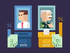 Concept elections design flat Stock Illustration