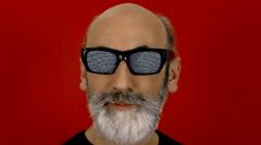 Hypnoglasses look tv static Stock Footage