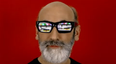 Hypnoglasses look tv test card Stock Footage