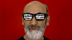 Hypnoglasses look tv test card Stock Footage