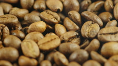 Background of coffee beans Stock Footage