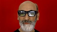 Hypnoglasses look witness destruction - stock footage