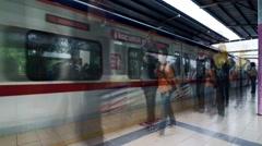 Segambut KTM Train Station Stock Footage