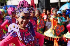 Fuschia Street Cultural Dancers Stock Photos