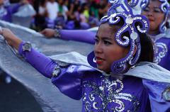 Stock Photo of Street Cultural Blue Dancers