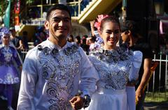 Stock Photo of Street Cultural White Dancers