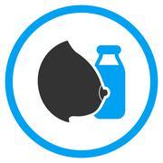 Mother Milk Icon Stock Illustration