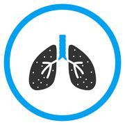 Respiratory System Icon - stock illustration