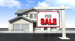 Making house, and Sale sign for house Stock Footage