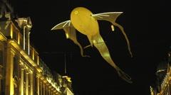 London, UK - January, 17: Lumiere Light Festival London, Luminéoles - stock footage