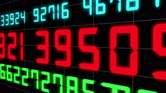Numerical digital display. 4k Stock Footage