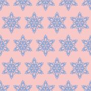 Snowflake seamless.pattern. Christmas background. Rose quarts and serenity co - stock illustration