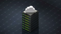 Database symbol and Cloud. Database server - stock footage