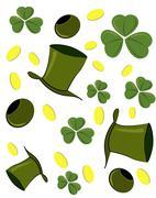 St. Patrick's Day symbols - stock illustration