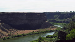 Cliffs along the Sanke River near Twin Falls, Idaho Stock Footage