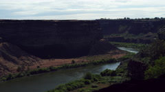Cliffs along the Snake River near Twin Falls, Idaho Stock Footage