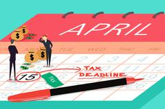 Tax Deadline Concept Stock Illustration