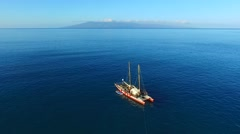 Polynesian Sailing Canoe - stock footage