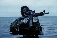 Navy SEAL frogman - stock photo