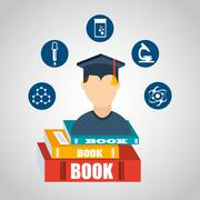 academic education design - stock illustration