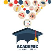 Academic education design Stock Illustration