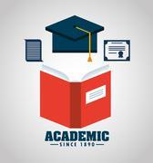 academic education design - stock illustration