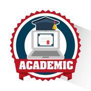 Academic education design Stock Illustration